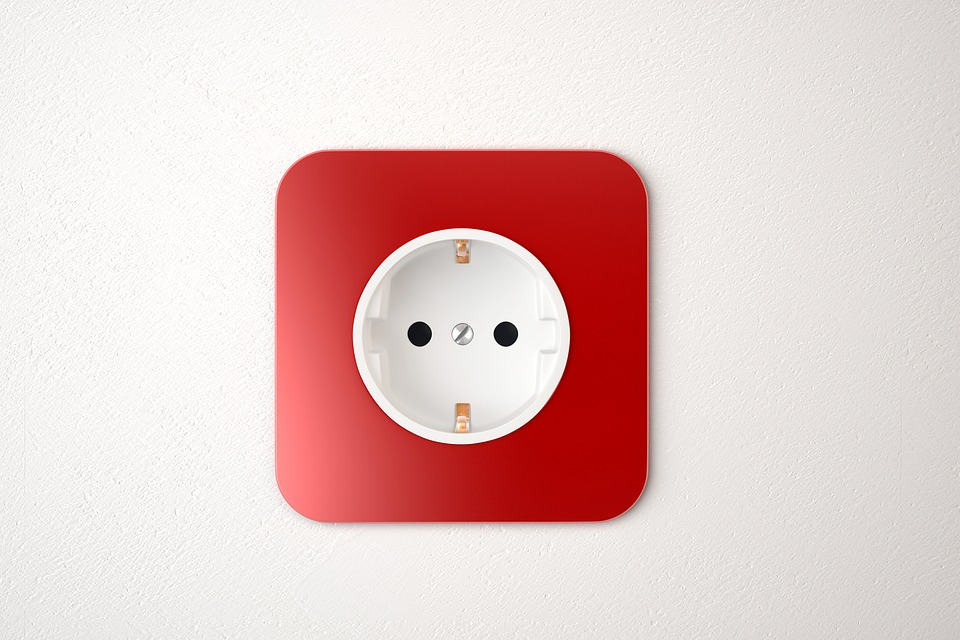 Red Power, Socket, White Wall, Red, Power, White, Wall