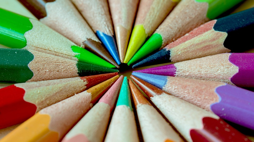 Pen, Crayon, Color, Sharp, Red, Yellow, Purple, Green