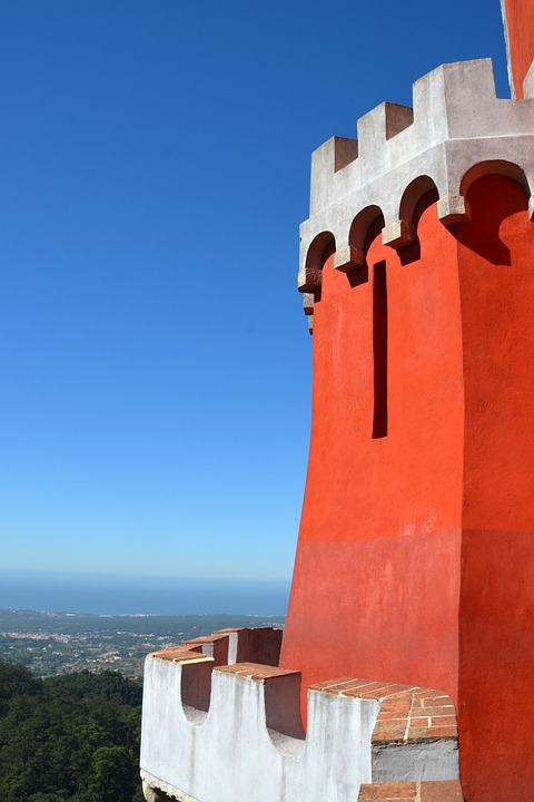 Tower, Red, Red Tower, Castle, Building, Masonry