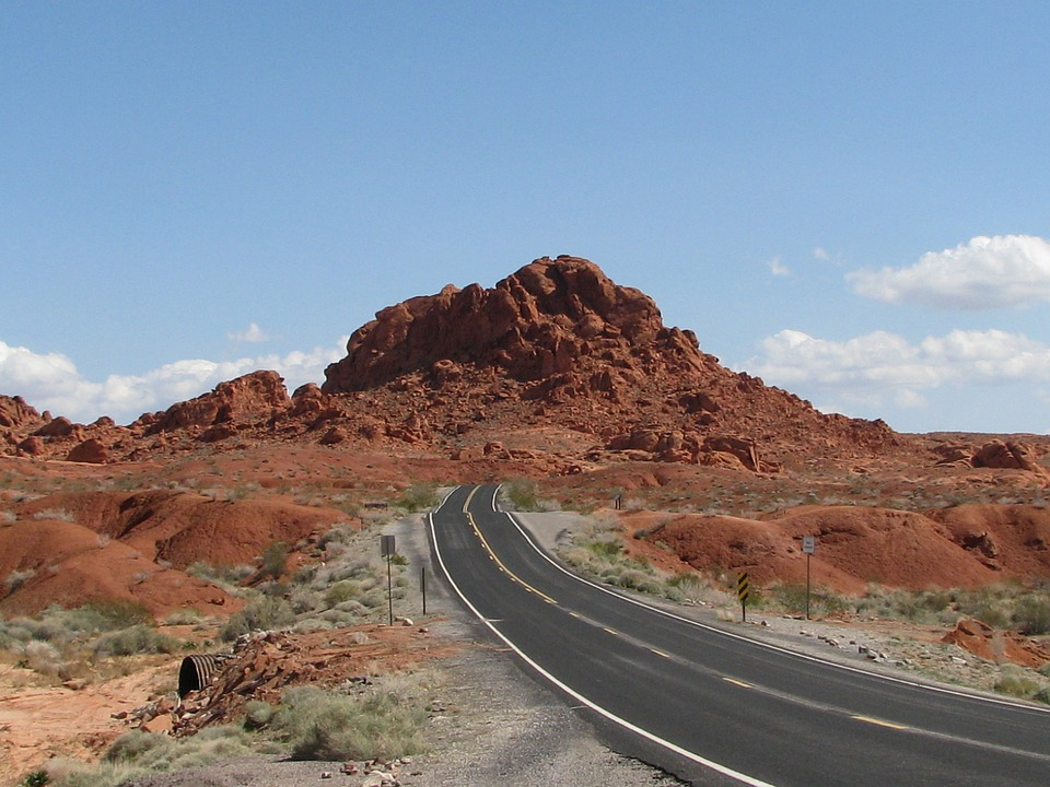 Nevada, Valley Of The Fire, Red Rocks, Scenery