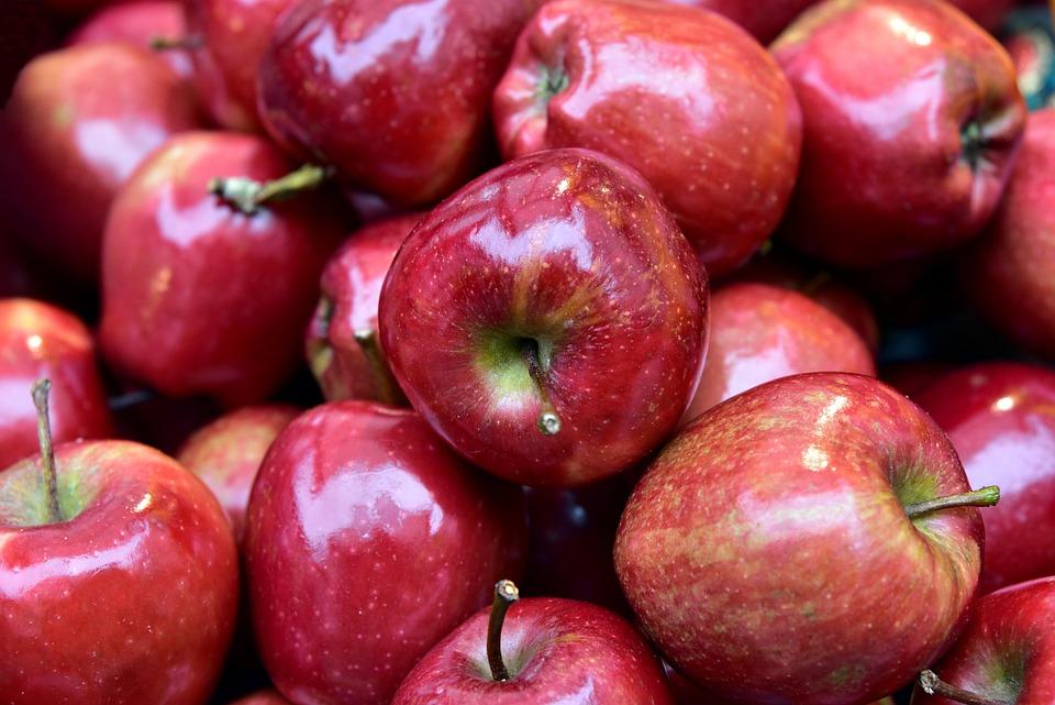 Apple, Nicholas Apples, Round, Red, Shiny, Beautiful