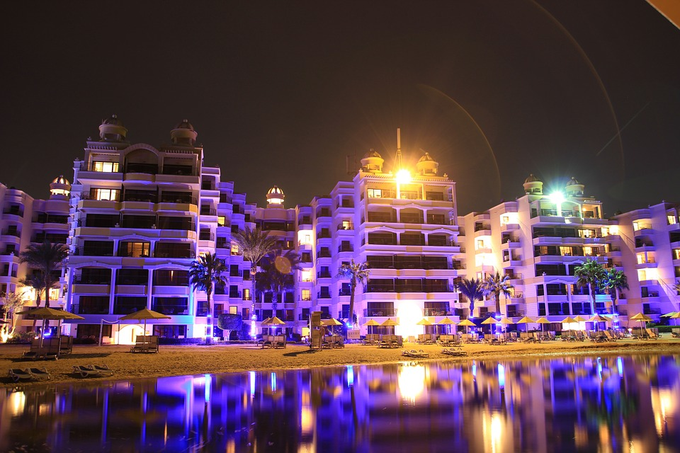 Hotel, Egypt, Hurghada, Red Sea, Hotel Complex, Beach