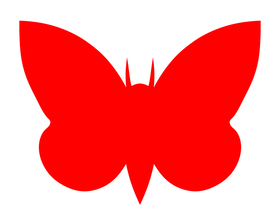 Moth, Insect, Bug, Silhouette, Red