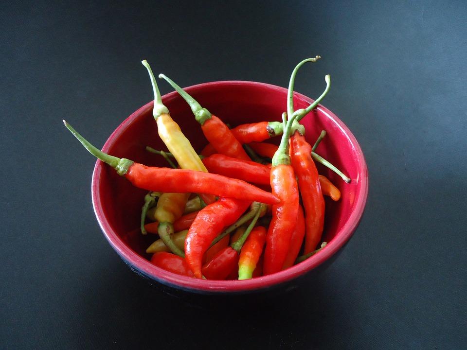 Chili, Fresh, Spicy, Red