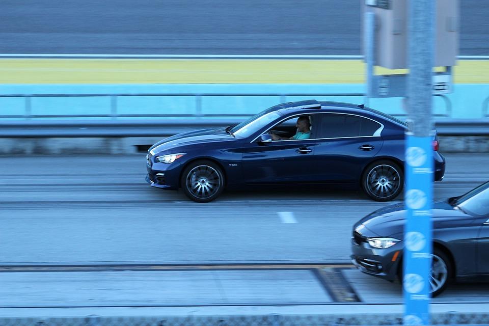 Infiniti, Q50s, Red Sport, Racing, Sports Car