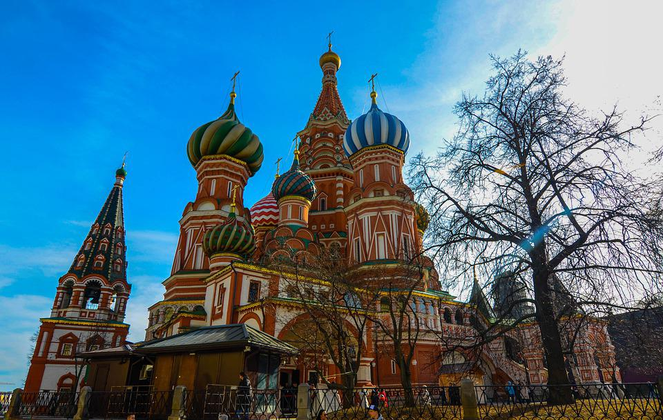 City, Landscape, Fall, Moscow, Red Square, Temple