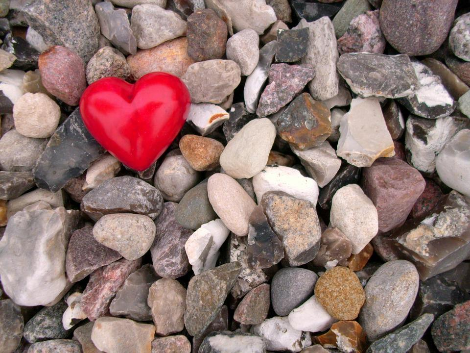 Heart, Stone Heart, Red, Decoration, Emotion, Stones