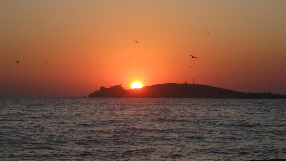 Red Sunset, Sunset, Sky, The Sun