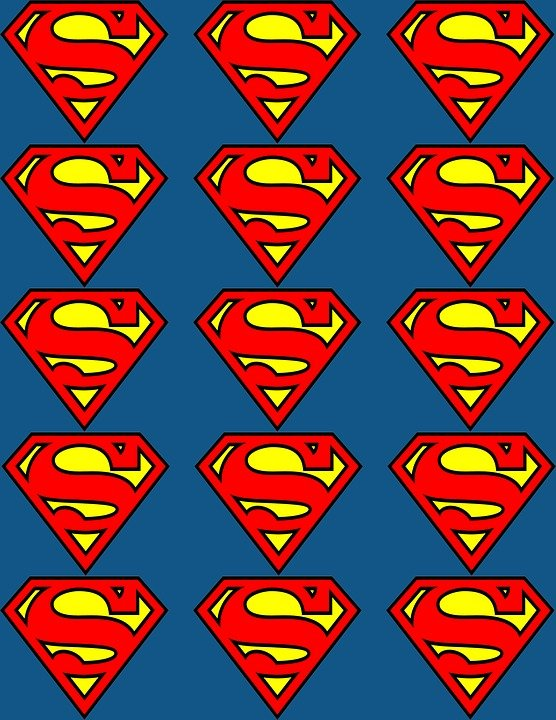 Free Photo Red Superman S Yellow Style Letter Flags Logo