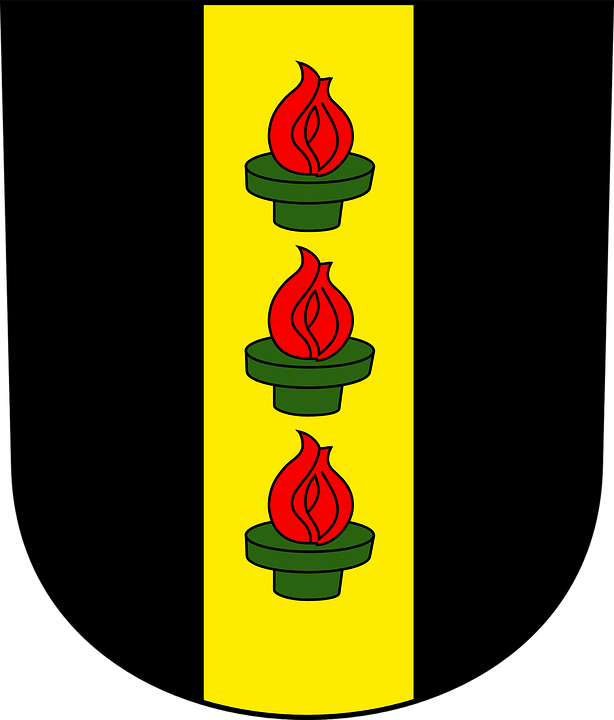 Wetzikon, Coat Of Arms, Town, Switzerland, Red, Flames