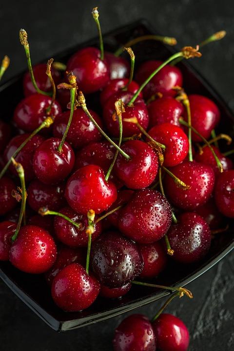 Cherry, Berry, Closeup, Food, Fresh, Tasty, Ripe, Red