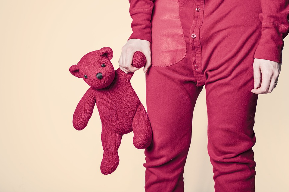 Teddy Bear, Whimsical, Toy, Red, Funny, Adult, Kid
