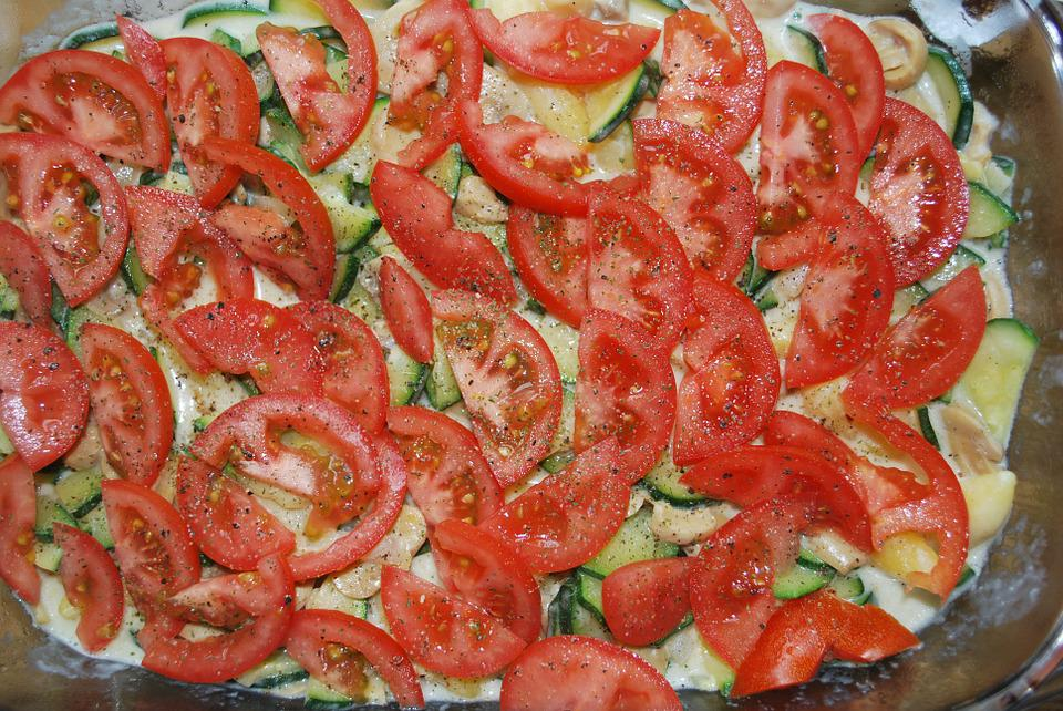 Casserole, Tomatoes, Vegetables, Red, Eat, Food