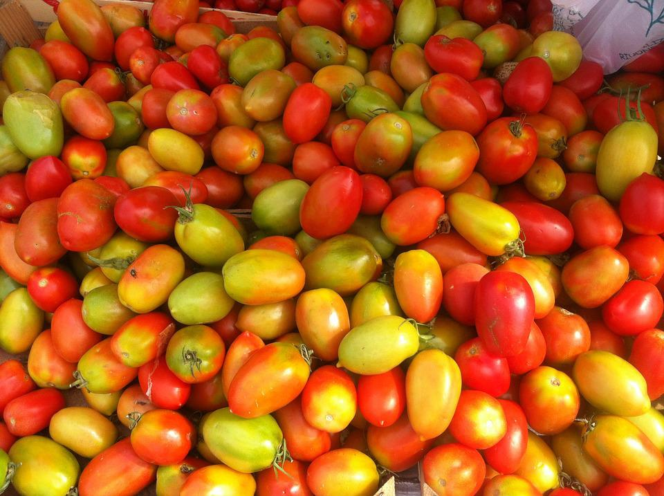 Tomatoes, Yellow, Red