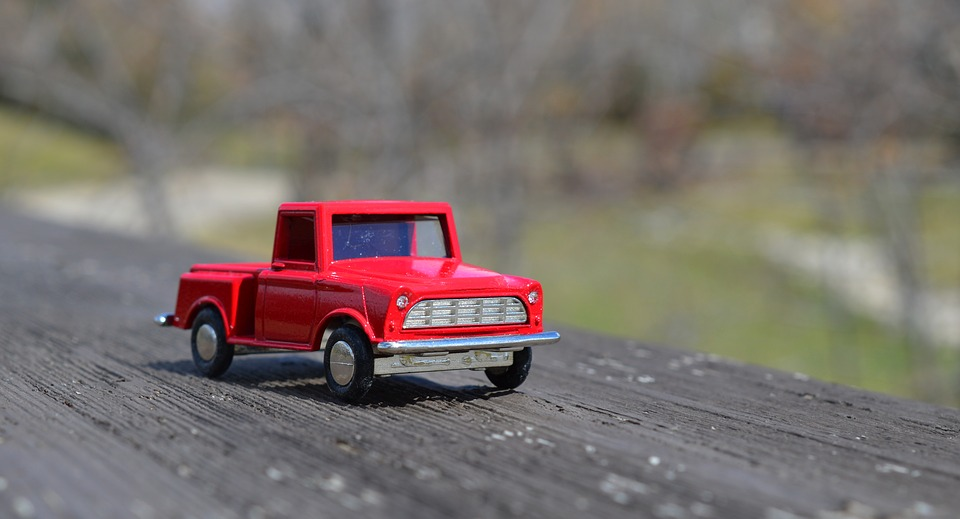 Truck, Red, Toy, Vehicle, Transportation, Transport