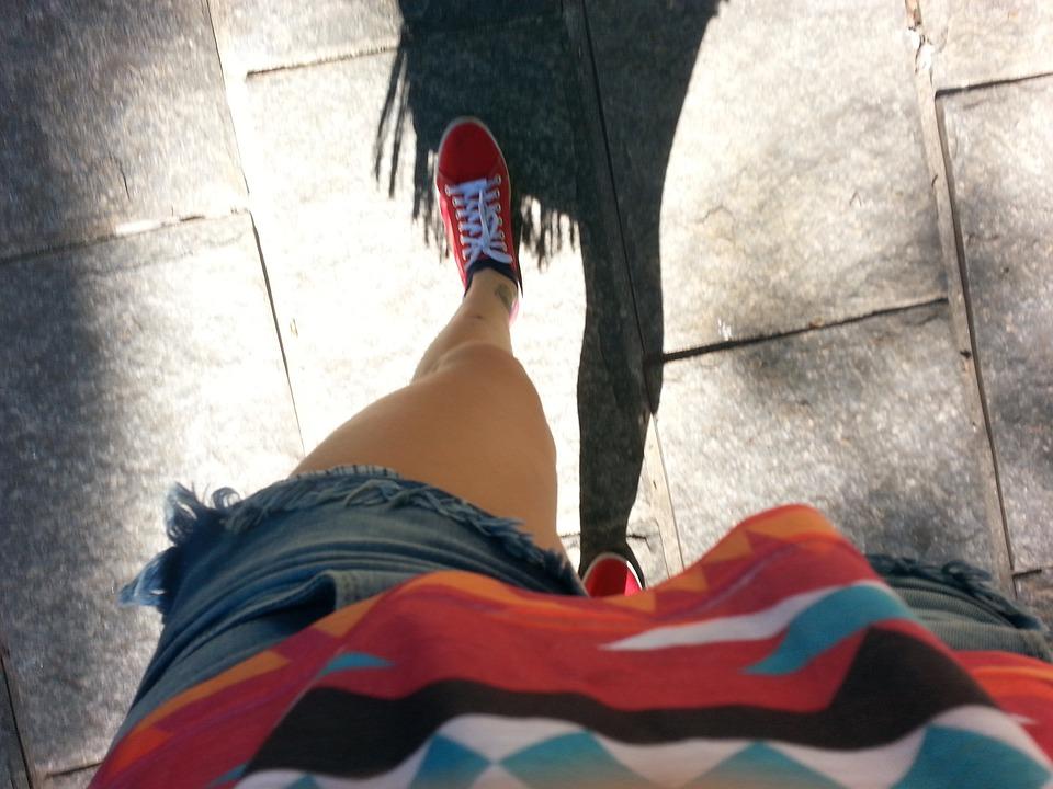 Walking, Foot, Shadow, Walk, Red