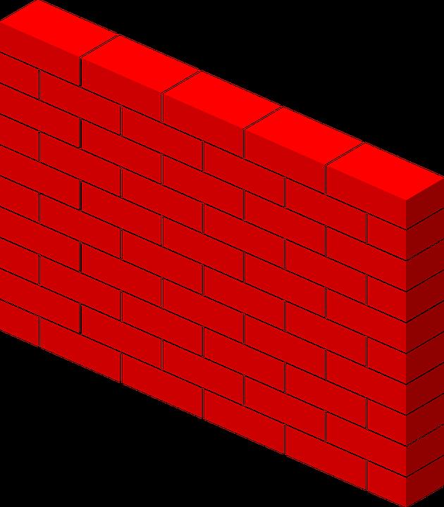 Bricks, Wall, Red