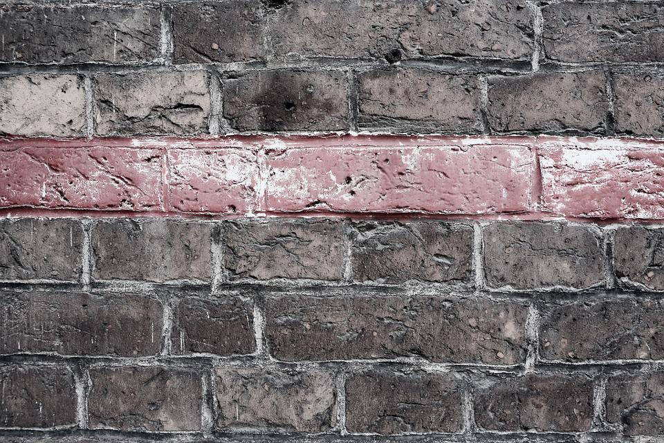 Wall Of Bricks, Wall, Bricks, Texture, Red, Line