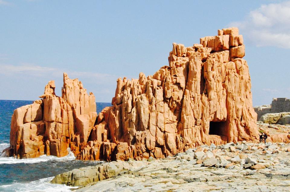 Rock, Red, Sardinia, Italy, Water, Sea, Mediterranean