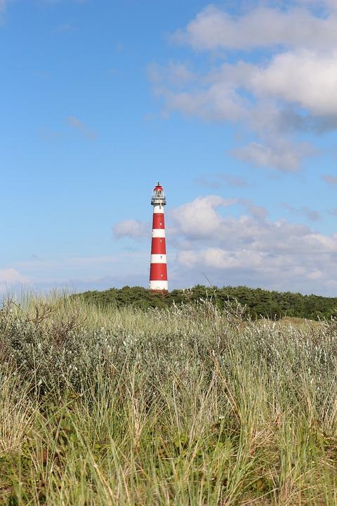 Lighthouse, Hollum, Ameland, Red White