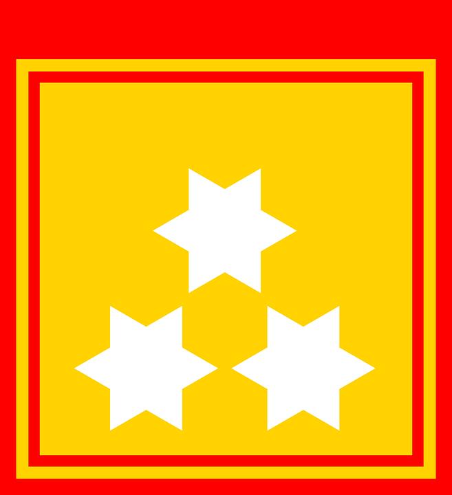 Star, Flag, Yellow, Red, White, Yellow Stars