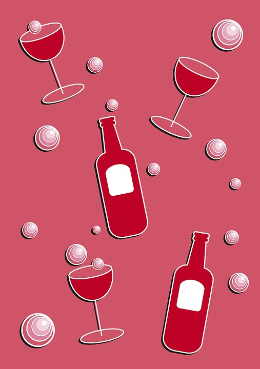 Wine, Red, Bubbles, Bubbly, Champagne, Glass, Red Wine