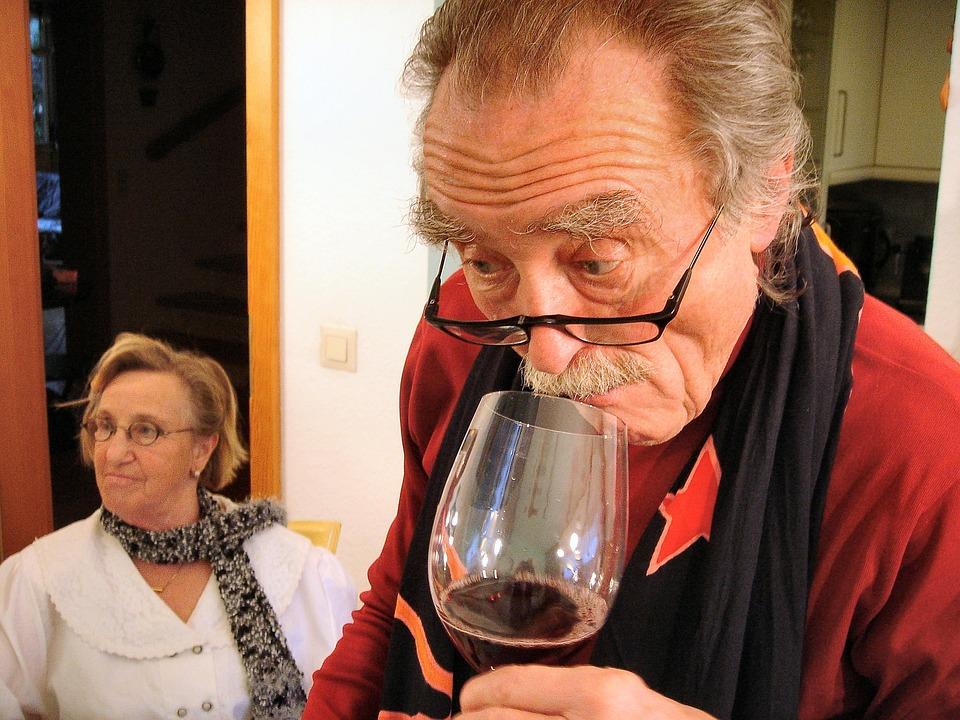 Wine, Drink, Wine Glass, Red Wine, Alcohol, Seniors