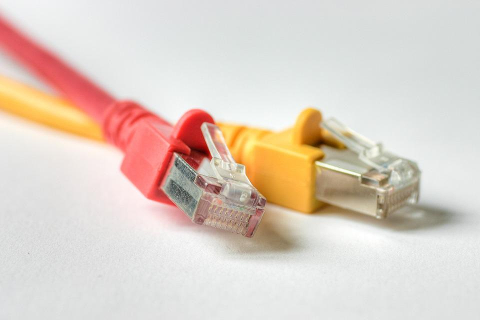 Cable, Technology, Red, Yellow, Plug, Network