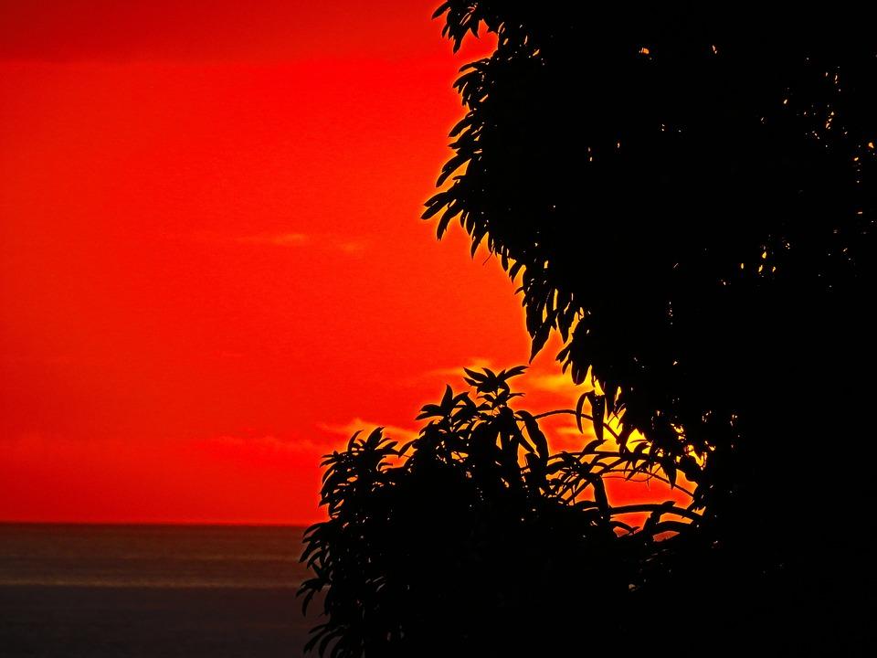 Red, Yellow, Sun Set, St Lucia, Saint Lucia
