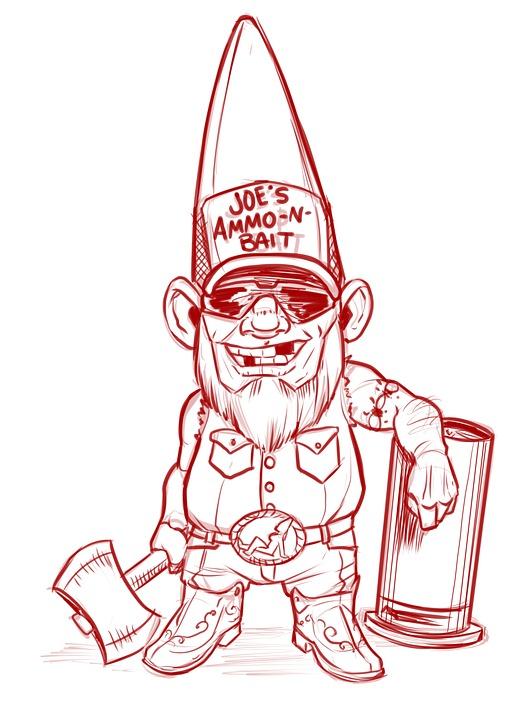 Free Photo Redneck Gnome Axe Bubba White Trash Drawing