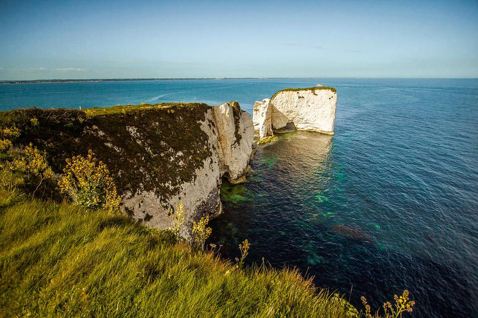 Dorset, Old Harry Rocks, Swanage Bay, Reef, Rock, Ocean