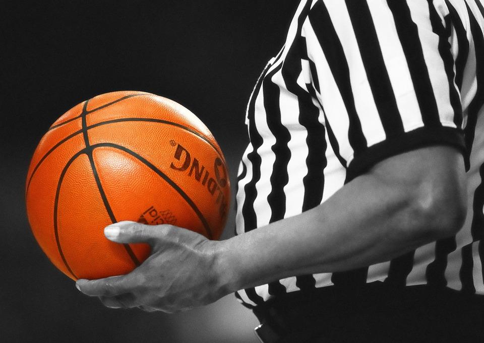 Basketball, Referee, Game, Orange, Ball, Sport, Team