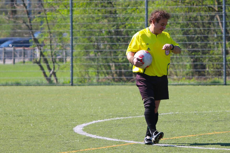 Meadow, Sport, Football, Referee, Ball, Time Of