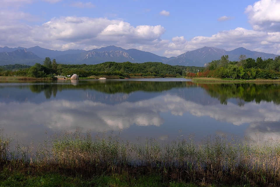 Lake, Reflections, Reflect, Sky, Landscape, Cloud