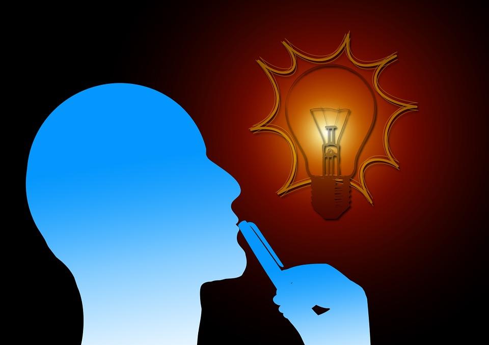 Think, Thinking, Reflect, Light Bulb, Thoughts Flash