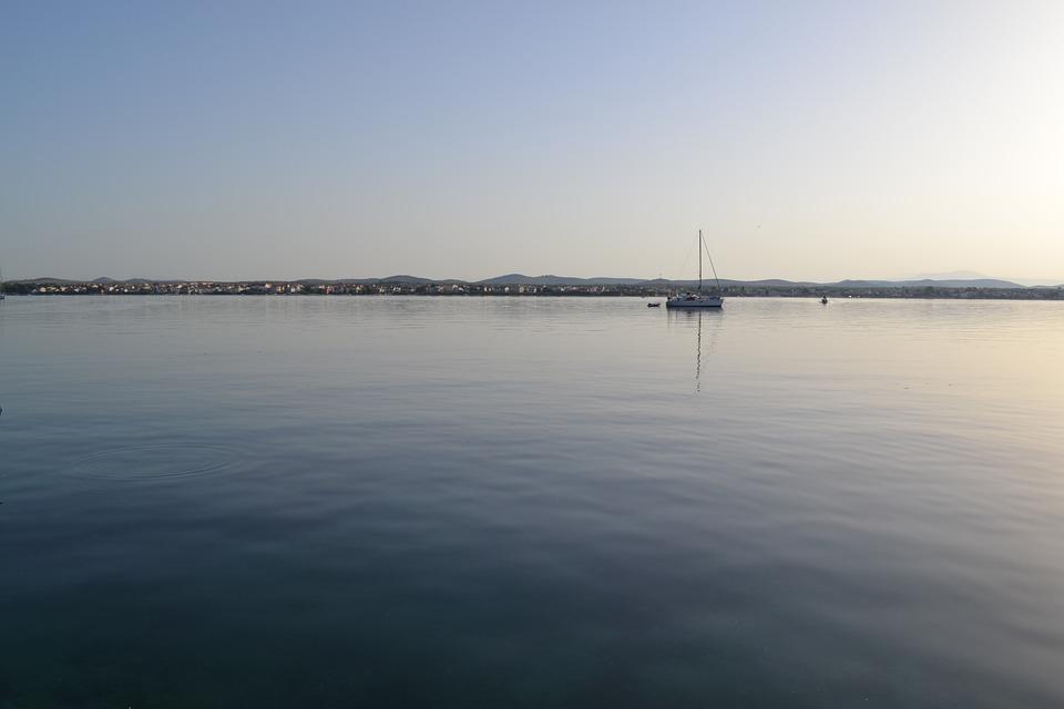 Water, River, Sunset, Reflection, Lake, Sea, Adriatic