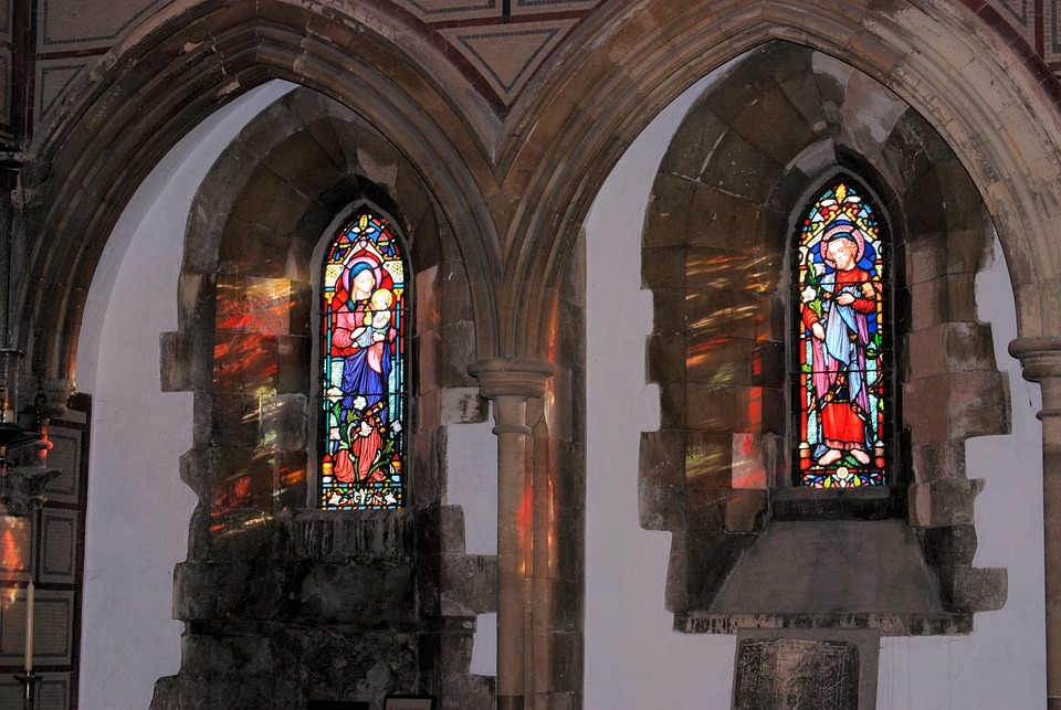 Stained Glass, Church, Window, Reflection, Glass