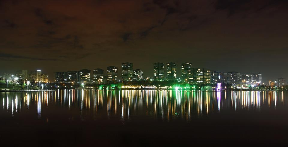 City, Reflection, Landscape, Light, City ​​center