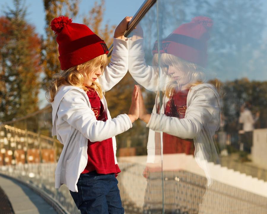 Kid, Girl, Child, Childhood, Summer, Day, Reflection