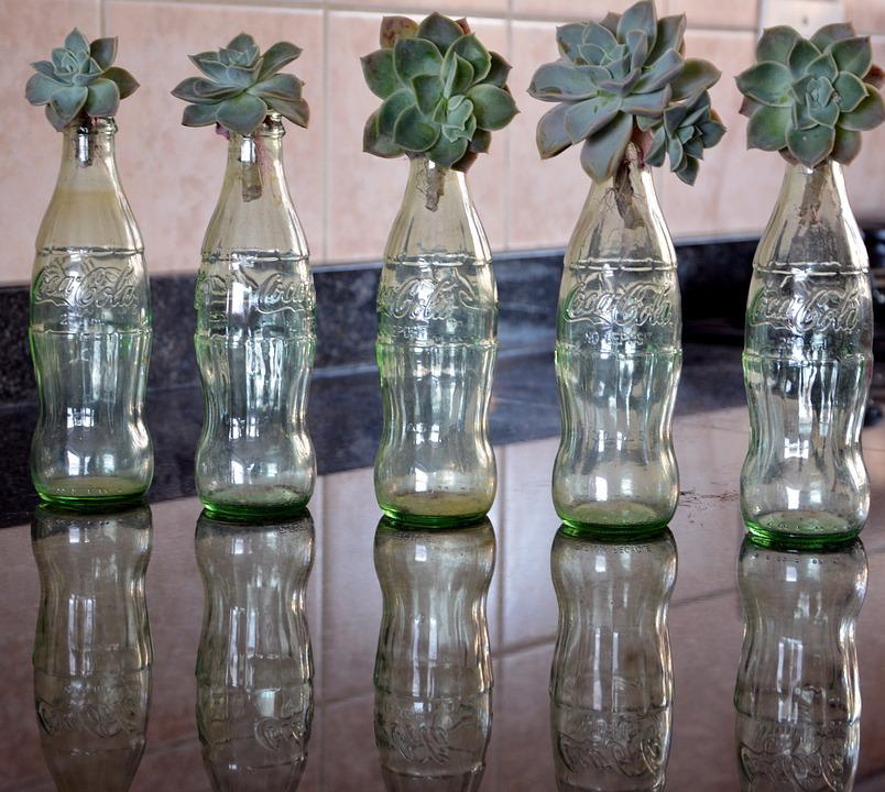 Bottles, Decoration, Glass Jar, Reflection