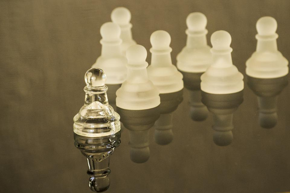 Leadership, Leader, Chess, Pawn, Corporate, Reflection