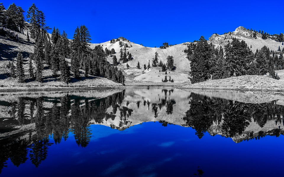 Lake, Mirror, Blue, Nature, Water, Reflection
