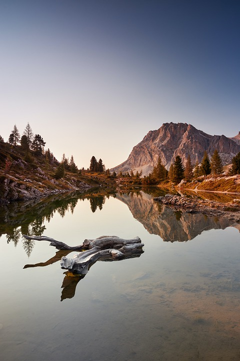 Mountains, Trees, Lake, Calm Waters, Reflection