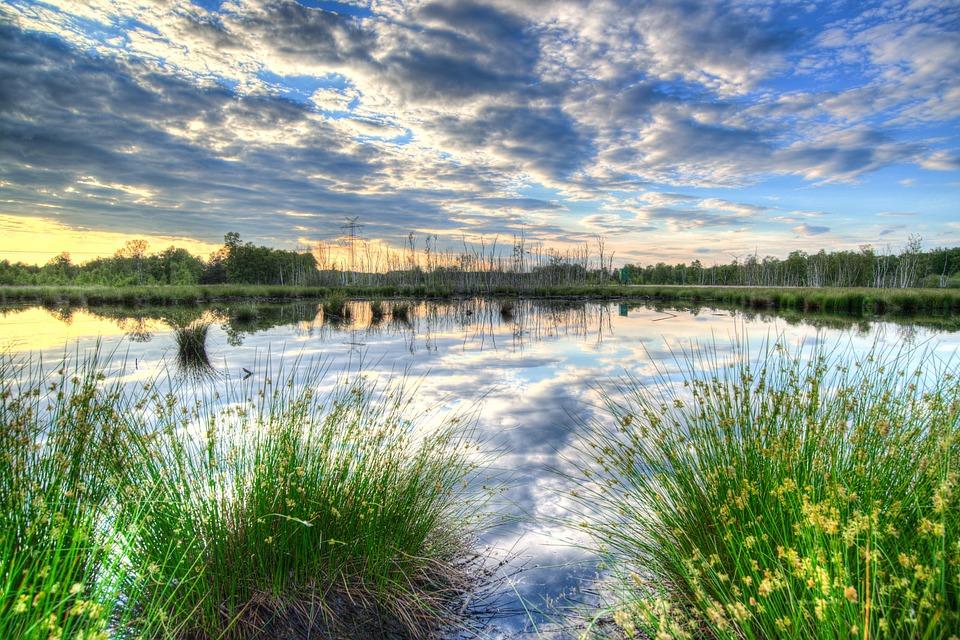 Sunset, Colorful, Reflection, Scenic, Lake, Nature