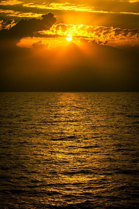 Sun, Clouds, Reflection, Sky, Landscape, Nature