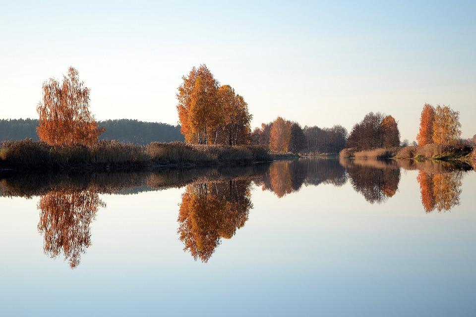 Reflection, Nature, Water, Lake
