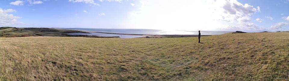 Person, Views, Sun, Reflection, Sea, Landscape, Green