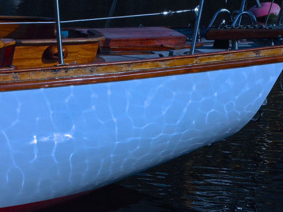 Sailboat, Keel, Reflection