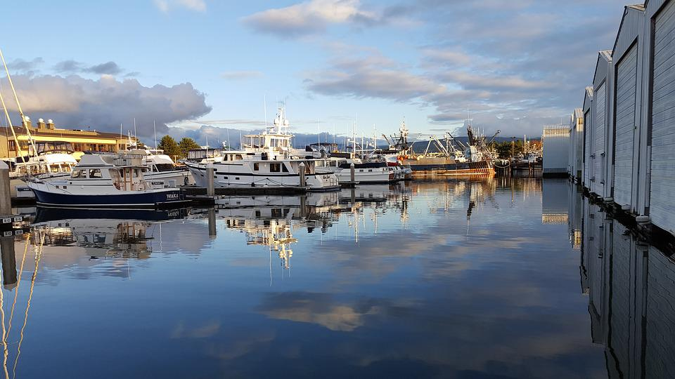 Water, Reflection, Travel, River, Panoramic, Bellingham