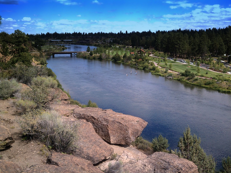 Farewell Bend Park, Oregon, River, Water, Reflections